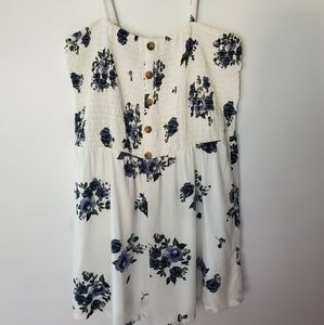 ARIZONA JEAN CO. SMOCKED FLORAL ROMPER XL